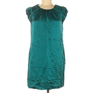 Banana Republic Silk Teal Dress sz 6